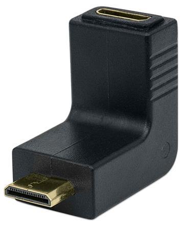 Adapter, mini HDMI-mini HDMI, felfelé 90°, MANHATTAN