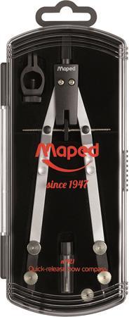 Körző, precíziós, rögzíthető lábakkal, MAPED