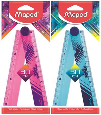 Vonalzó, műanyag, összehajtható, 30 cm, MAPED
