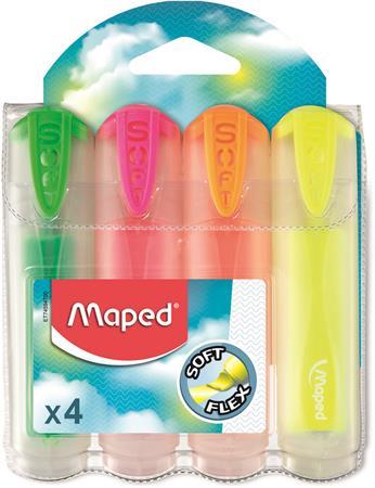 Szövegkiemelő készlet, 1-5 mm, átlátszó ház, MAPED