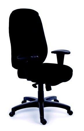 Főnöki szék, szinkronmechanikával, fekete gyöngyszövet-borítás, fekete lábkereszt, MAYAH