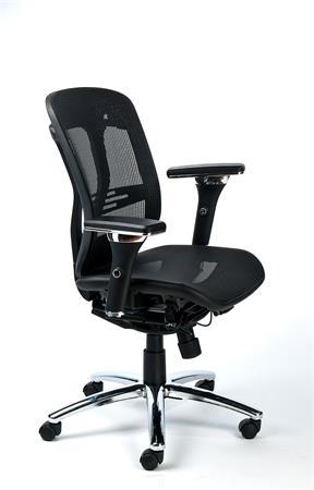 Irodai szék, állítható karfás, hálós ülőlap, hálós háttámla