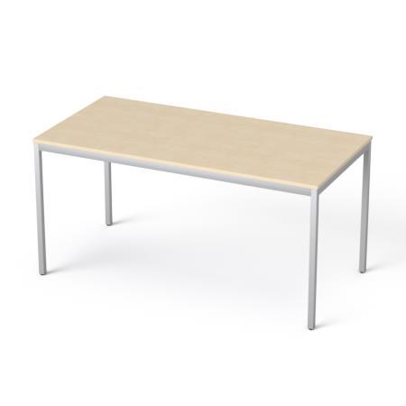 Általános asztal fémlábbal, 75x150 cm, MAYAH