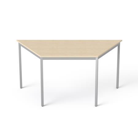 Általános asztal fémlábbal, trapéz alakú, 75x150/75 cm, MAYAH