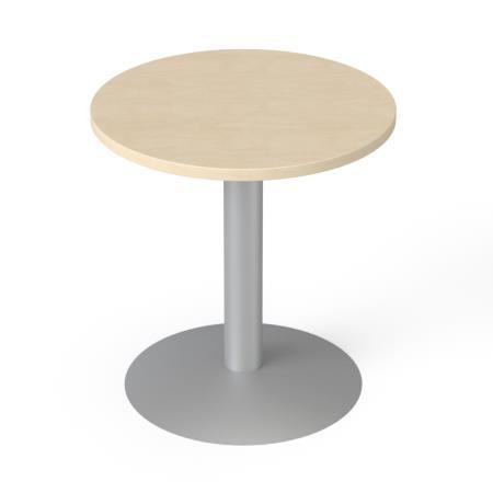 Tárgyalóasztal, kör, szürke fémlábbal, O 60 cm, MAYAH