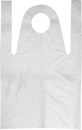 Fóliakötény, fehér, HDPE, 80x125