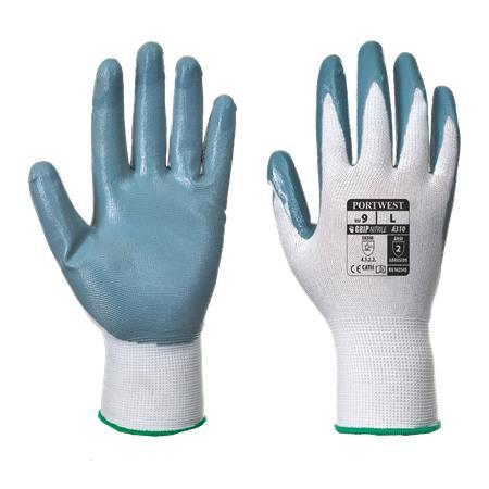 Védőkesztyű, nitril, XL méret,