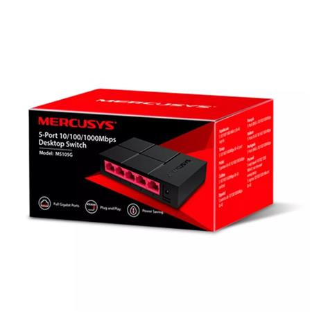 Switch, 5 port, 10/100/1,000 Mbps, gigabit, MERCUSYS