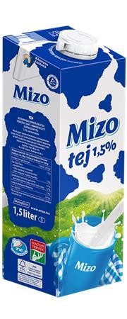 Tartós tej, dobozos, 1,5%, 1,5 l, MIZO