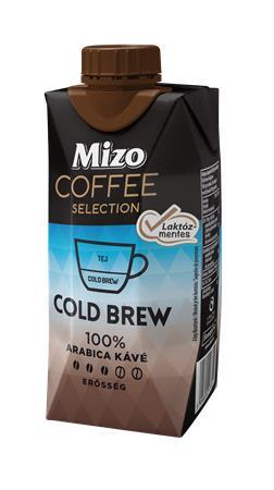 Kávéválogatás, Cold Brew, UHT félzsíros, visszazárható dobozban, 0,33 l, MIZO