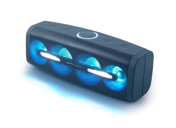 Hangszóró, Bluetooth, LED fényekkel, 50W, MUSE
