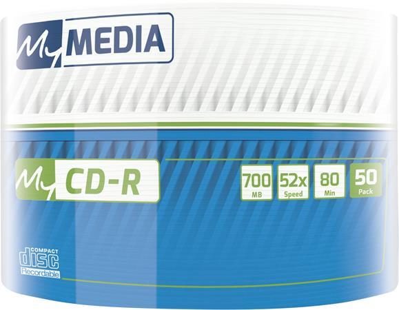CD-R lemez, 700MB, 52x, zsugor csomagolás, MYMEDIA