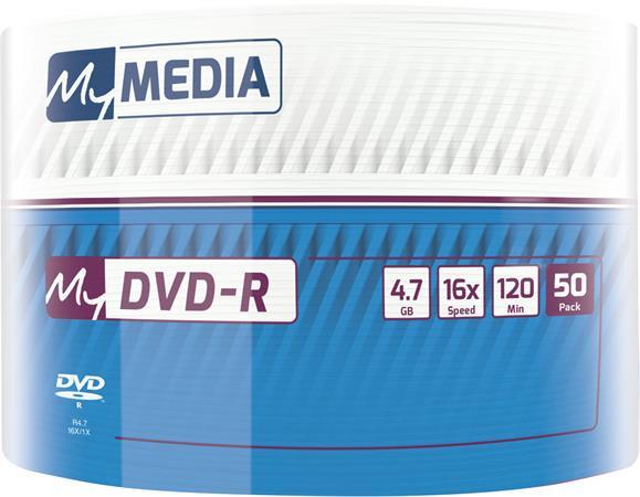 DVD-R lemez, 4,7 GB, 16x, zsugor csomagolás, MYMEDIA