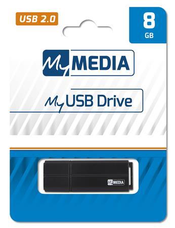 Pendrive, 8GB, USB 2.0, MYMEDIA