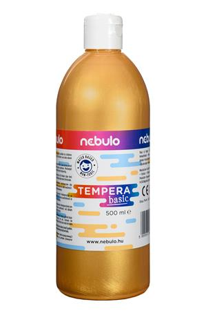 Tempera, 500 ml, NEBULO, arany