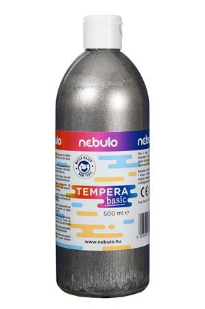 Tempera, 500 ml, NEBULO, ezüst
