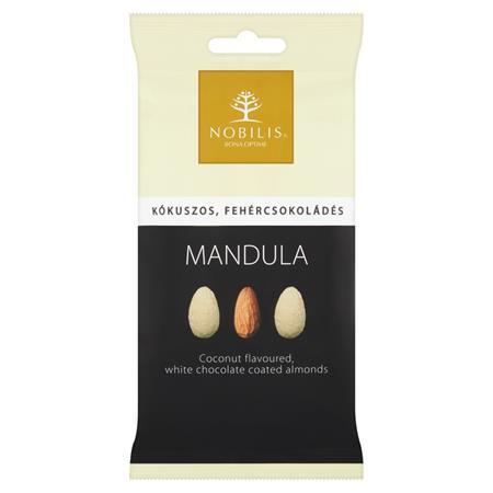 Mandula, 100 g, NOBILIS, kókuszos-fehércsokoládés