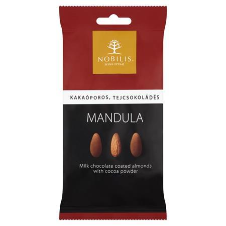 Mandula, 100 g, NOBILIS, kakaós-tejcsokoládés