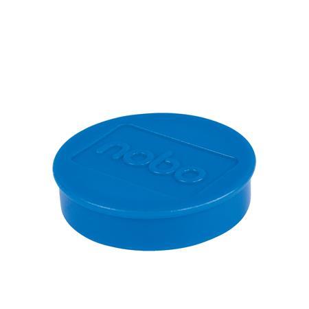 Mágneskorong, erős, 38 mm, 10 db, NOBO, kék