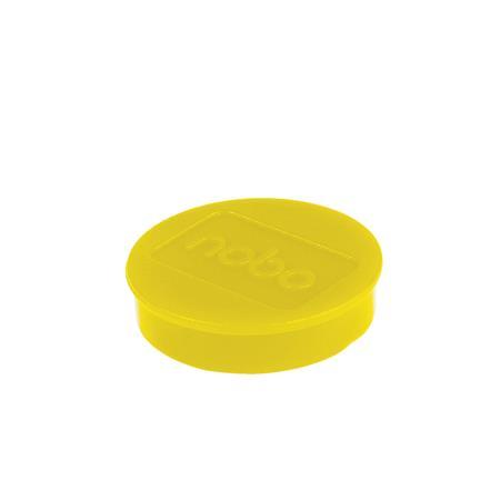 Mágneskorong, erős, 38 mm, 10 db, NOBO, sárga