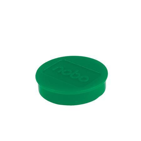 Mágneskorong, erős, 38 mm, 10 db, NOBO, zöld
