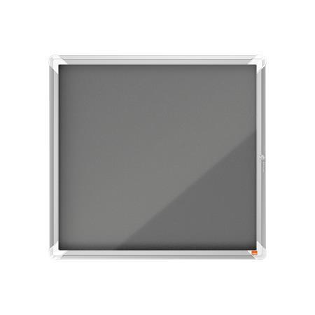 Vitrin, beltéri, textil, (6xA4), NOBO