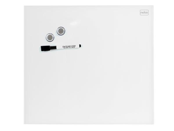 Mágneses üvegtábla, 30x30 cm, NOBO