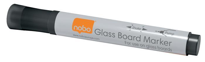 Üvegtábla marker, NOBO, fekete