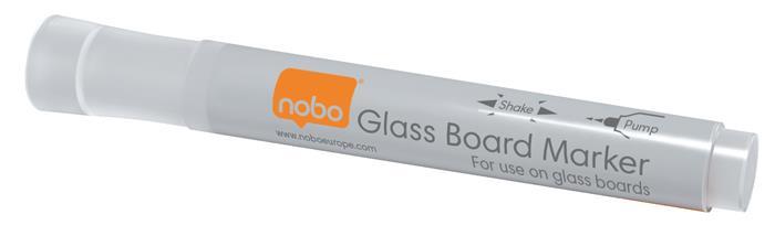 Üvegtábla marker, NOBO, fehér