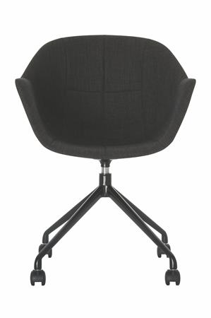 Fotel, 2 db, fém lábcsillag, görgős, PAPERFLOW