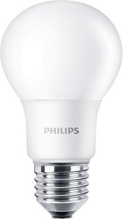 LED izzó, E27, gömb, A60, 5.5W, 470lm, 2700K, PHILIPS