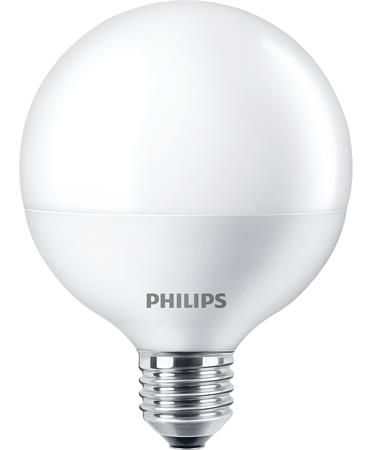 LED izzó, E27, gömb, 9,5W, 806lm, 2700K, G93, PHILIPS