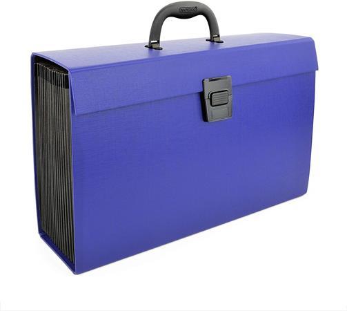 Harmonikatáska, 19 zsebes, RAPESCO, kék