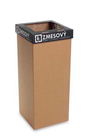 Szelektív hulladékgyűjtő, újrahasznosított, szlovák felirat, 60 l, RECOBIN
