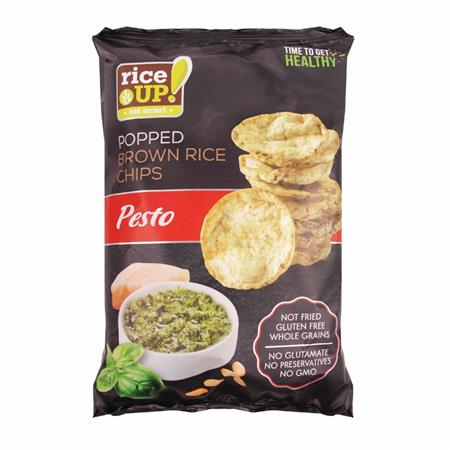 Barnarizs chips, 60 g, RICE UP, pesto