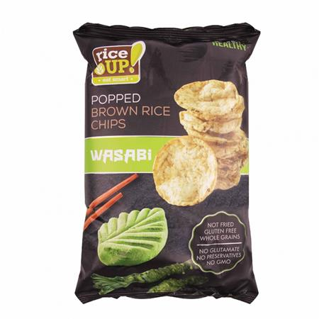 Barnarizs chips, 60 g, RICE UP, wasabi