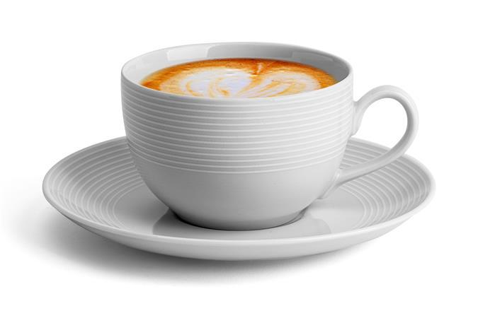 Kávéscsésze+alj,ROTBERG, fehér, 25cl, 6db-os szett,