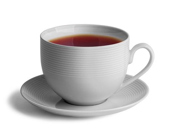 Teáscsésze+alj,ROTBERG, fehér, 45cl, 4db-os szett,