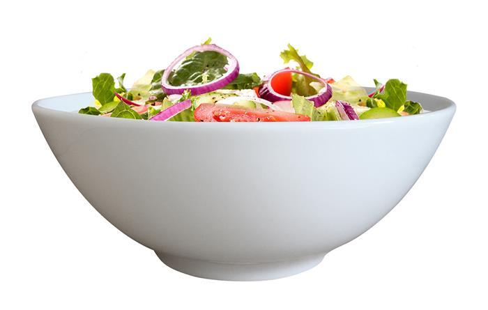 Müzlis és salátástálka, ROTBERG, fehér, 17 cm, 6 db-os szett