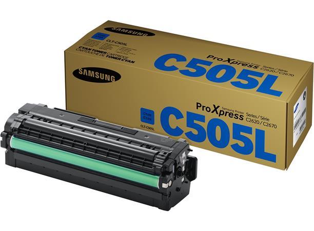 CLT-C505L  Lézertoner SL-C2620DW, SL-C2670FW nyomtatókhoz, SAMSUNG, cián, 3,5k