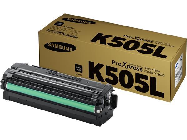 CLT-K505L Lézertoner SL-C2620DW, SL-C2670FW nyomtatókhoz, SAMSUNG, fekete, 6k