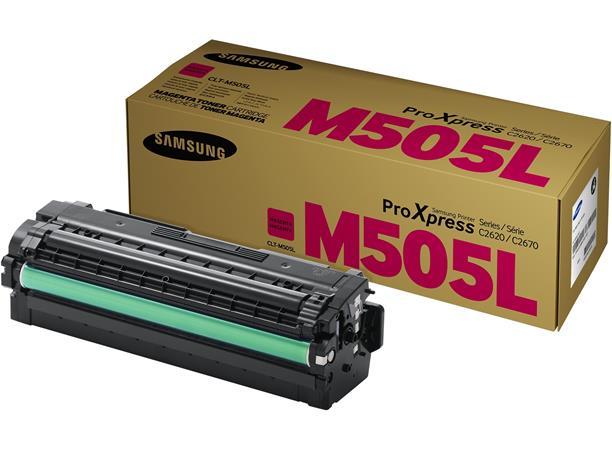 CLT-M505L Lézertoner SL-C2620DW, SL-C2670FW nyomtatókhoz, SAMSUNG, vörös, 3,5k