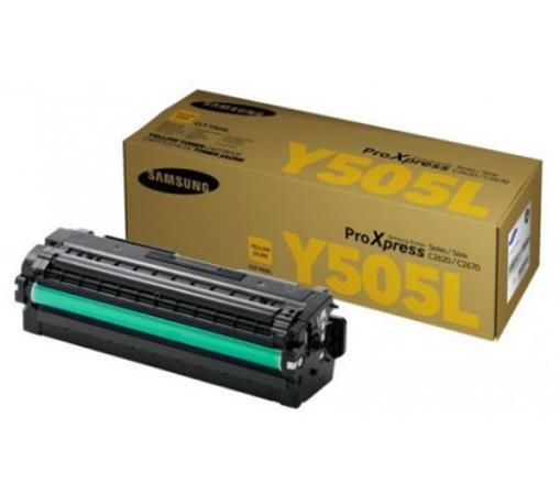 CLT-Y505L Lézertoner SL-C2620DW, SL-C2670FW nyomtatókhoz, SAMSUNG, sárga, 3,5k