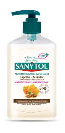 Antibakteriális folyékony szappan, 250 ml, SANYTOL