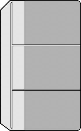 Kalendárium betét, névjegytartó,