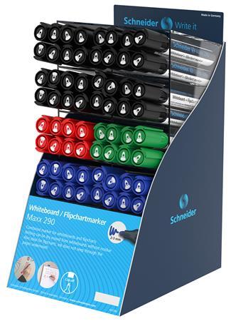 Tábla- és filpchart marker display, 2-3 mm, kúpos, SCHNEIDER