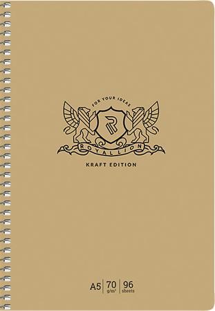 Spriálfüzet, A5, kockás, 96 lap, keményfedeles, SHKOLYARYK,