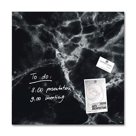 Mágneses üvegtábla, 48x48 cm, SIGEL