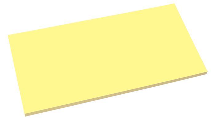 Öntapadó jegyzettömb, elektrosztatikus, 100x200 mm, 100 lap, SIGEL, sárga