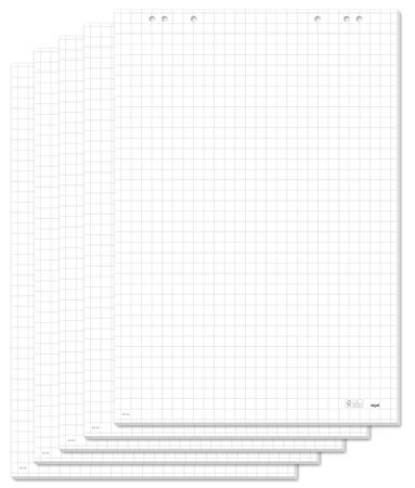 Flipchart papír, négyzethálós, 68x98 cm, 5x20 lap, SIGEL